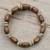 Wood beaded wrap bracelet, 'With the Grain' - Wood Bead and Disc Wrap Bracelet thumbail
