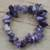 Amethyst beaded stretch bracelet, 'Twilit Hues' - Amethyst Beaded Strand Stretch Bracelet thumbail