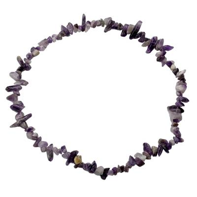Amethyst Beaded Strand Long Necklace