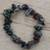 Quartz beaded stretch bracelet, 'Depths' - Quartz Chip Stone Beaded Stretch Bracelet thumbail