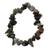 Quartz beaded stretch bracelet, 'Depths' - Quartz Chip Stone Beaded Stretch Bracelet (image 2a) thumbail