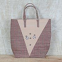Recycled plastic tote handbag,