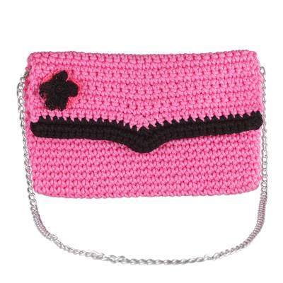 Crocheted Clutch in Carnation from Ghana