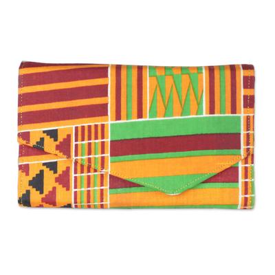 Electric Dreams Multi-Colored Geometric Cotton Wallet