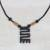 Wood pendant necklace, 'Beautiful Nkyinkyim' - Adinkra Nkyinkyim Sese Wood Pendant Necklace from Ghana thumbail