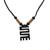 Wood pendant necklace, 'Beautiful Nkyinkyim' - Adinkra Nkyinkyim Sese Wood Pendant Necklace from Ghana (image 2a) thumbail