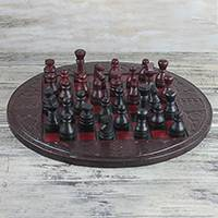 Leather chess set,