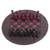 Leather chess set, 'Burgundy Battle' - Leather Chess Set in Burgundy and Black from Ghana (image 2a) thumbail
