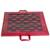 Leather travel chess set, 'Strategic Mind' - Leather Travel Chess Set in Red and Brown from Ghana (image 2a) thumbail