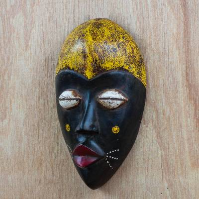 African wood mask, Adaoma Woman