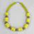Recycled glass and plastic beaded necklace, 'Hello Yellow' - Yellow Recycled Glass and Sese Wood Beaded Necklace thumbail