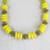 Recycled glass and plastic beaded necklace, 'Hello Yellow' - Yellow Recycled Glass and Sese Wood Beaded Necklace (image 2b) thumbail