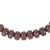 Recycled plastic beaded necklace, 'Peaceful Calm' - Eco Friendly Recycled Plastic Dark Brown Beaded Necklace (image 2c) thumbail