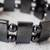 Hematite beaded stretch bracelet, 'Shimmer and Sheen' - Rectangular and Round Hematite Bead Stretch Bracelet (image 2c) thumbail