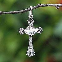 Featured review for Sterling silver pendant, Gleaming Crucifix