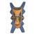 Wood African mask, 'Bibawa' - Blue and Orange Hand Carved Wood African Goodness Wall Mask thumbail