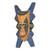 Wood African mask, 'Bibawa' - Blue and Orange Hand Carved Wood African Goodness Wall Mask (image 2d) thumbail