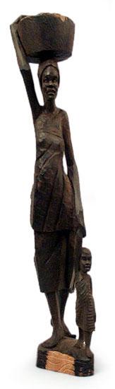 Ebony statuette