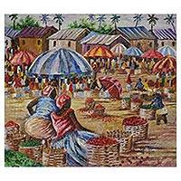 'Tuesday Market' (2018) - Impressionist Painting of a Tuesday Market from Ghana (2018)