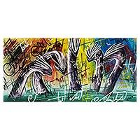 'Boldness' - Signed Freestyle Dragon Painting from Ghana