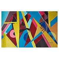 'Classicals' - Signed Modern Abstract Painting by a Ghanaian Artist