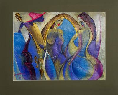 'Cherished' - Music-Themed Acrylic on Canvas from Ghana