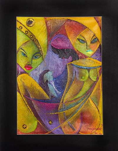 'Potentials' - Original Cubist-Style Acrylic on Canvas Painting