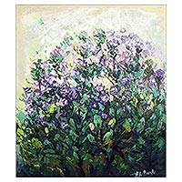 'Floral Beauties' - Impressionist-Style Floral Painting from Ghana
