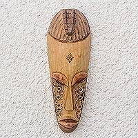 Ivoirian wood mask, 'Kweke' - Ivoirian wood mask