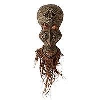 African wood mask Obosomase Healer Ghana
