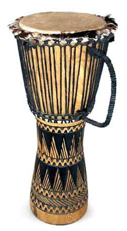 Wood djembe drum