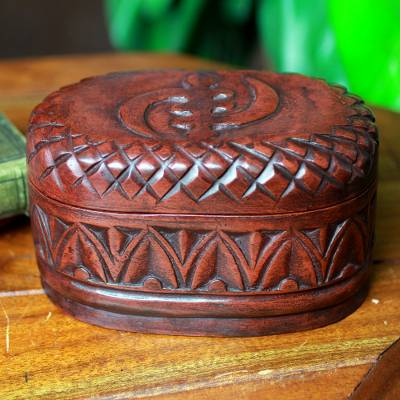 Wood jewelry box, 'My Girl Friday' - Hand Crafted Wood Jewelry Box