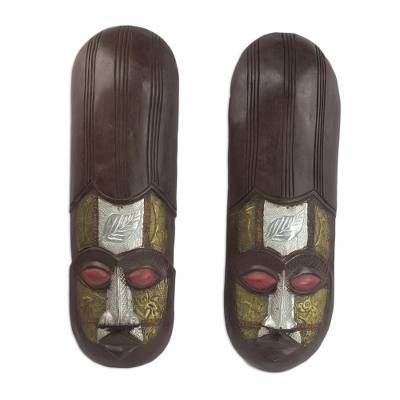 African Wood Masks (Pair)