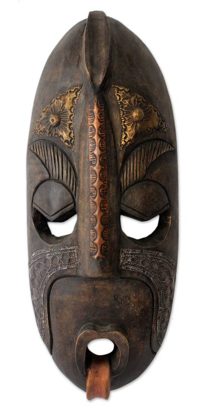 Ivoirian wood mask