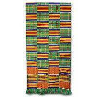 Kente cloth scarf, 'African Radiance' - Kente cloth scarf