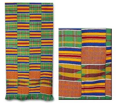Rayon kente cloth scarf, 'African Radiance' - Handmade Rayon Kente Cloth Scarf from Ghana