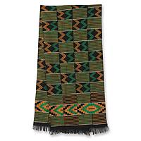 Kente cloth scarf, 'His Better Half' - Kente cloth scarf