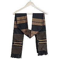 'Takpekpe Le Anloga,' scarf - Kente Cotton Patterned Scarf