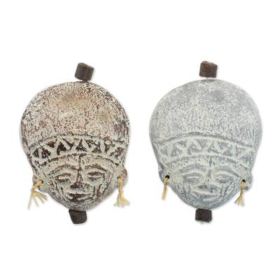 Ceramic ornaments (Pair)
