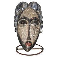 Benin Africa wood mask,