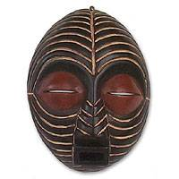 Congolese wood African mask,