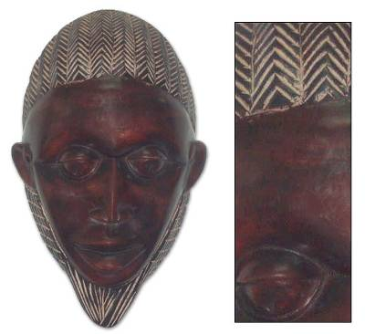 Africa wood mask