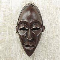 Congolese wood mask, 'Congo Court Adviser' - Congolese wood mask