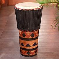 Wood ashiko drum,
