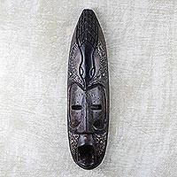 Ghanaian wood mask, 'Big Nose' - African wood mask