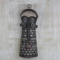 Ghanaian wood mask, Tigari Psychic - Ghanaian Wood Mask from Africa