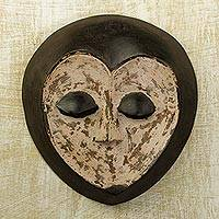 Congolese wood mask, 'Lega Sorcerer' - Congolese wood mask