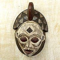 Gabonese Africa wood mask,