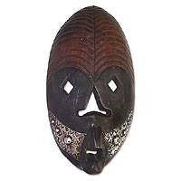 Ghanaian wood mask, 'Dawn' - African Wood Mask
