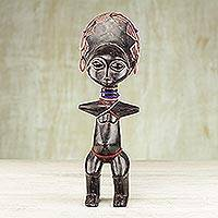 Wood sculpture, 'Elegant Abedua' - Wood sculpture